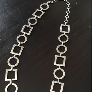 Accessories - Silver plated belt circles and squares